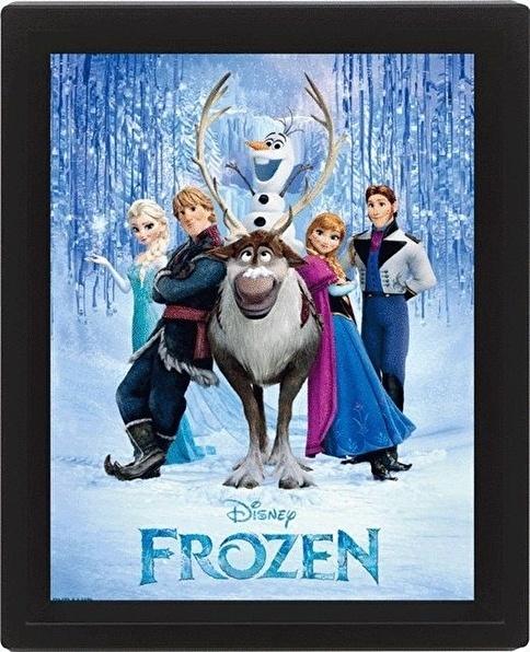 Pyramid International 3 Boyutlu Poster - Frozen Cast Renkli